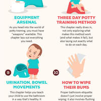 Carol cline potty training in 3 days synopsis infographic