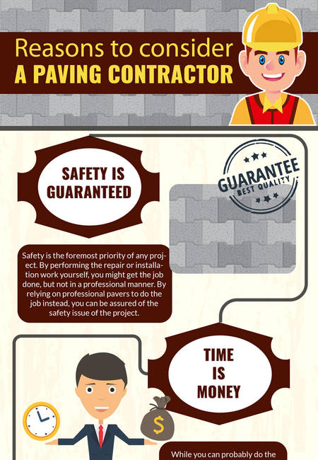 Paving data points infographic