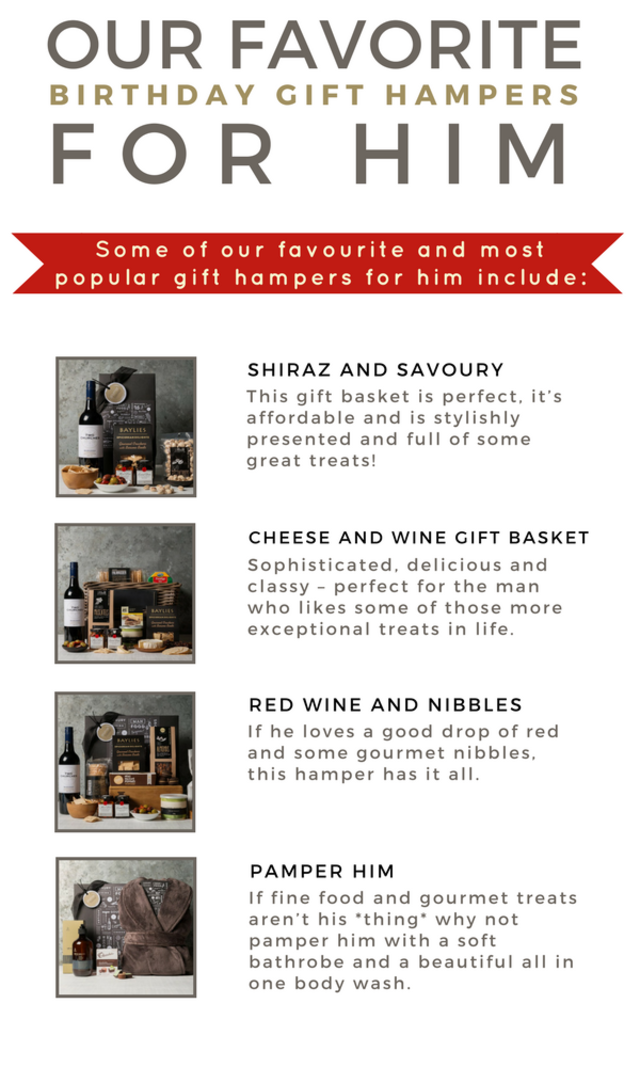Our favourite birthday gift hampers for him