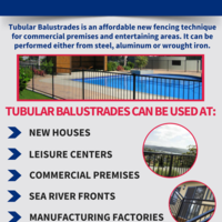 Where can we use tubular balustrades