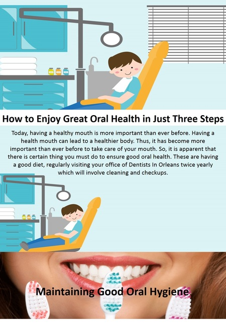 How to enjoy great oral health in just three steps