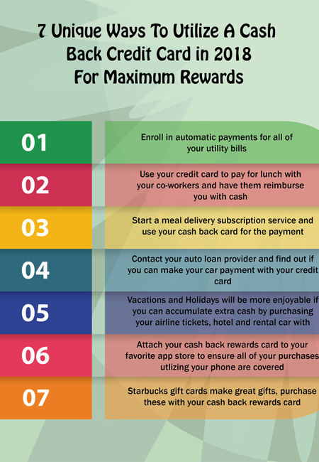 7 tips for maximizing a cash back credit card in 2018