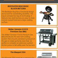 Some gas bbq options for your outdoor kitchen