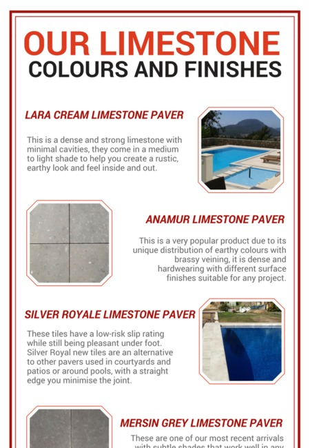 Our limestone colours and finishes