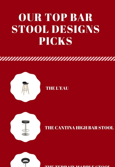 Our top bar stool designs pick