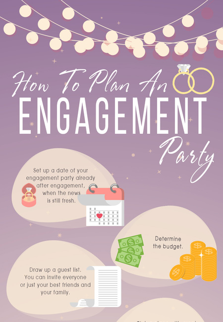 Helpful wedding planning infographics how to plan an engagement party