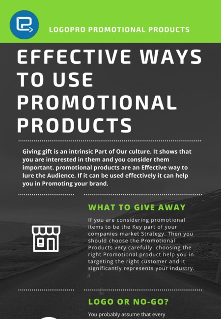 Effective ways to use promotional products