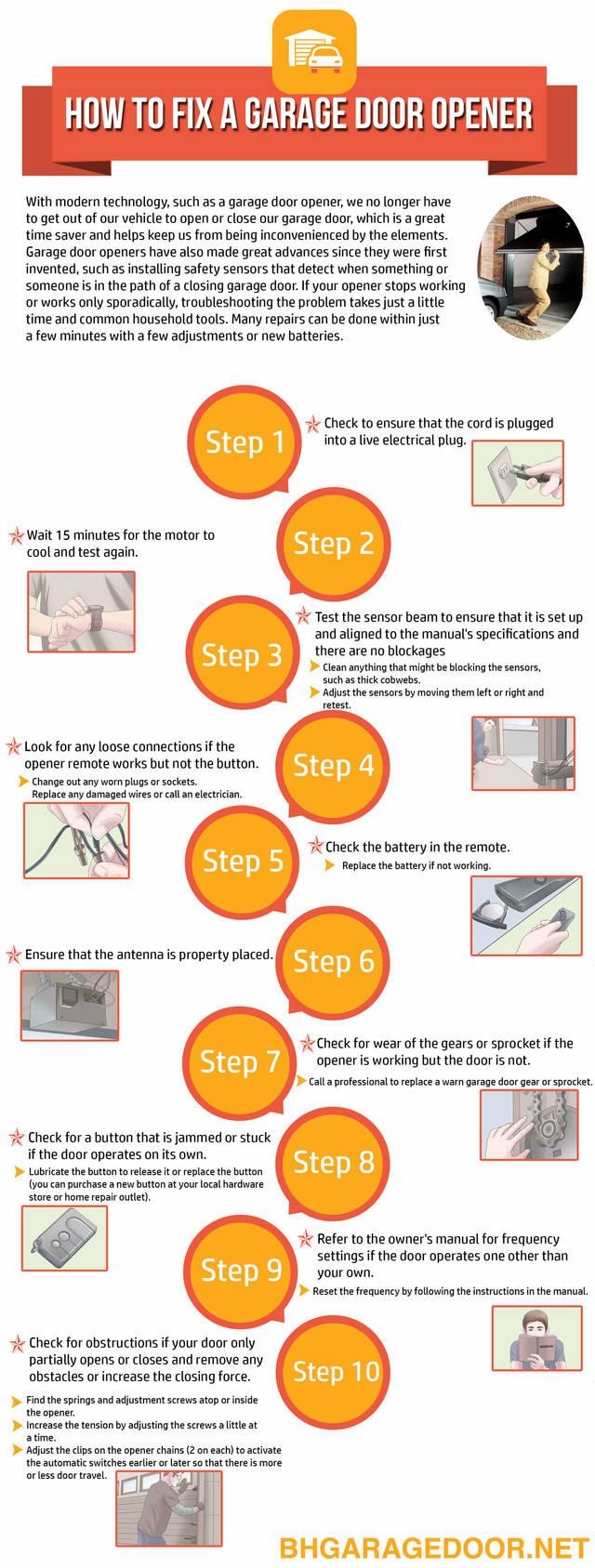 How to fix garage door opener