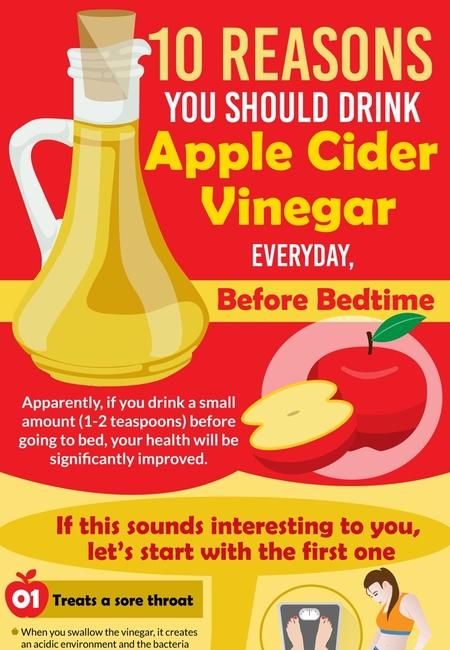 Apple cider vinegar before bedtime
