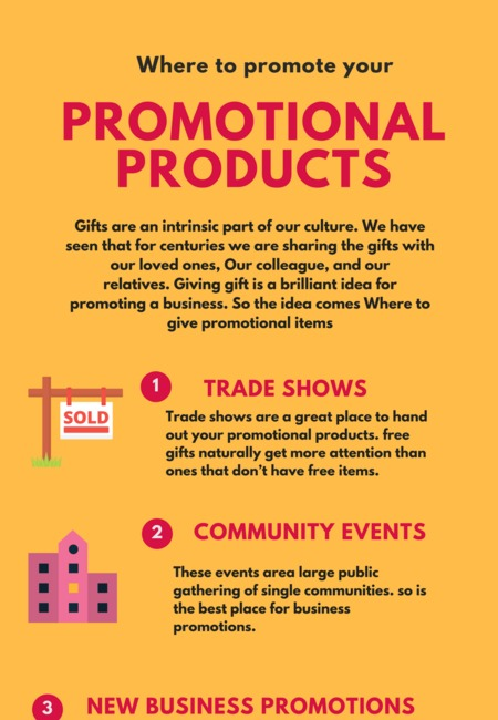Where to give promotional items