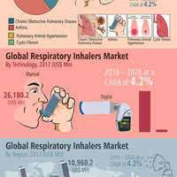 Global respiratory inhalers market infographic