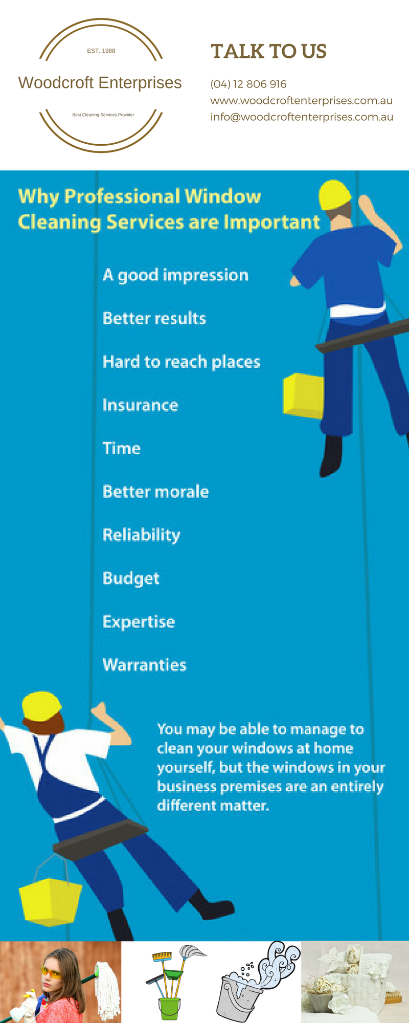 Professional Cleaners for Window Cleaning for Office - INFOGRAPHIC