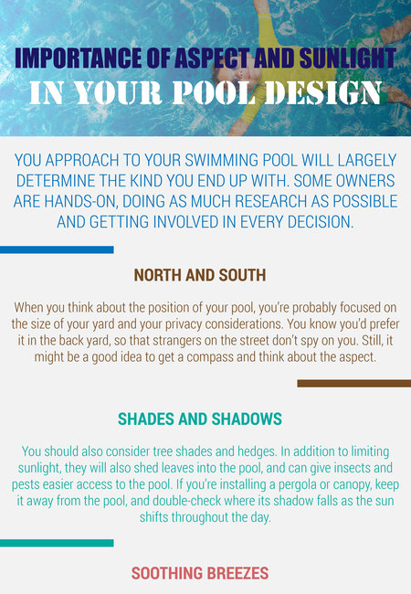 Importance of aspect and sunlight in your pool design