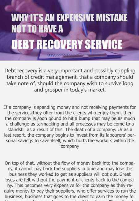 Why it%e2%80%99s an expensive mistake not to have a debt recovery service