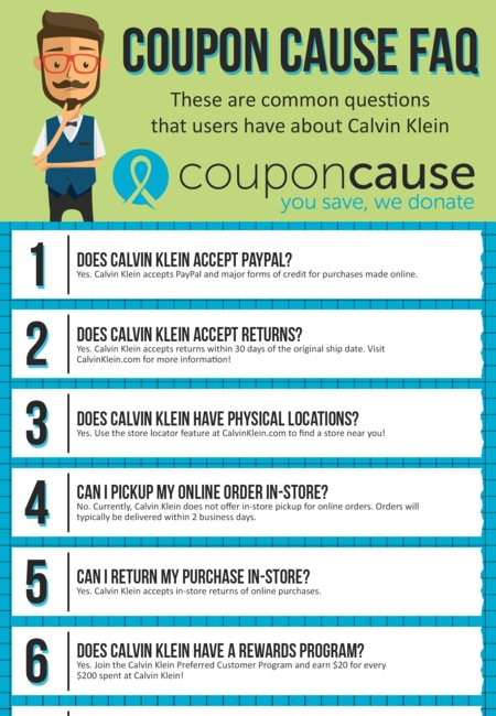 Calvin klein coupons infographic