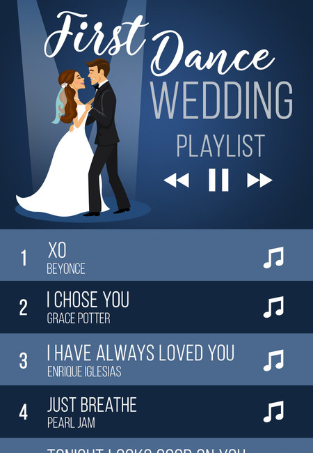 First dance songs wedding playlist ideas