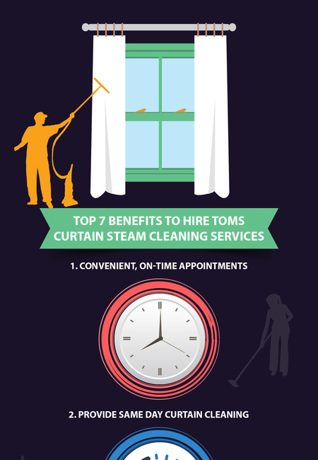 Top 7 benefits to hire toms curtain steam cleaning services