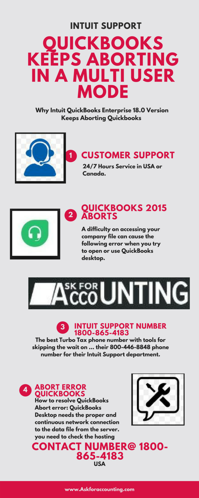 Quickbooks keeps aborting in a 1800 865 4183 multi user mode