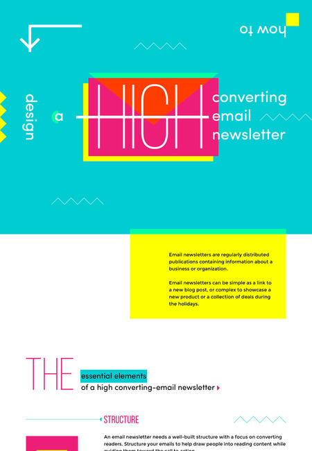 How to create an email newsletter mini