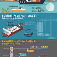 Global lng as a bunker fuel market infographic