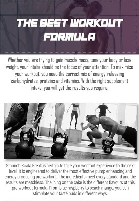 The best workout formula
