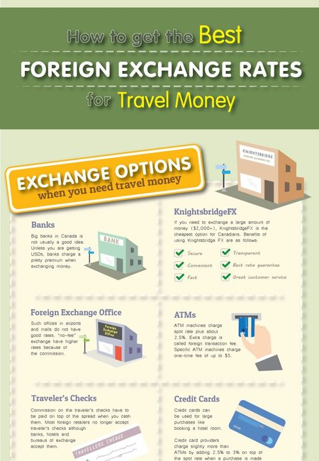 Currency exchange infographic