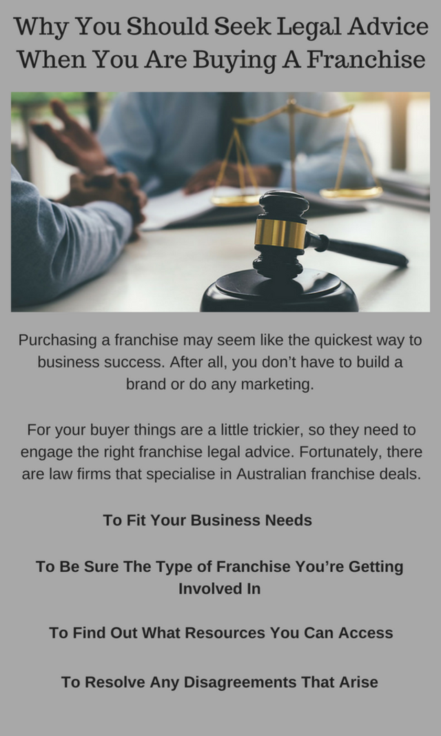 Why you should seek franchise legal advice when you are buying a franchise