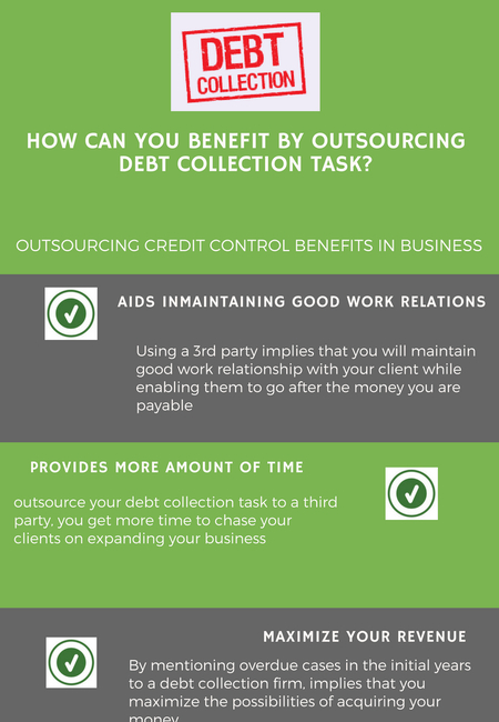 How can you benefit by outsourcing debt collection task