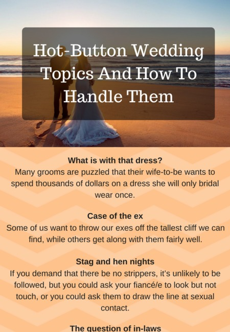 Hot button wedding shops topics and how to handle them