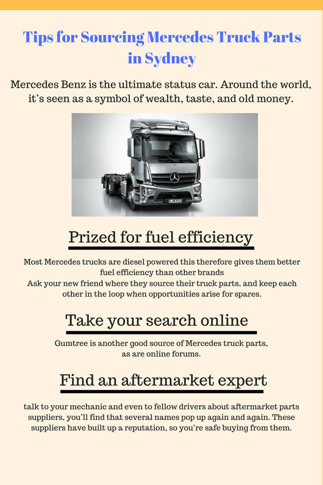 Tips for sourcing mercedes truck parts in sydney