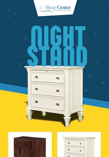 Shop modern nightstands for adult bedroom from sleep center