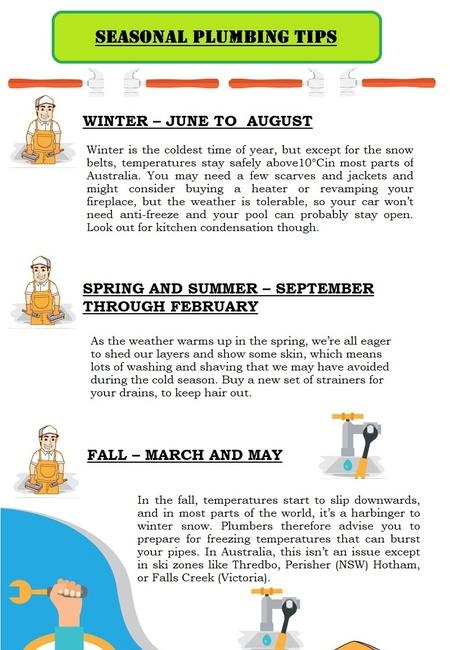 Seasonal plumbing tips