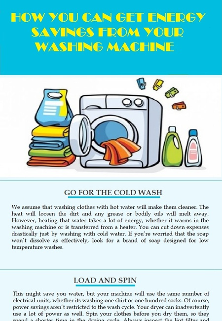 How you can get energy savings from your washing machine