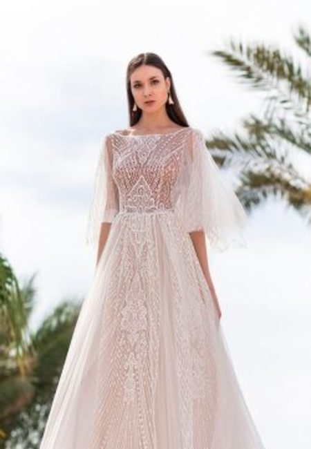 Oksana mukha wedding dresses 2019 a line lace vintage bateau neckline with sleeves 250x500