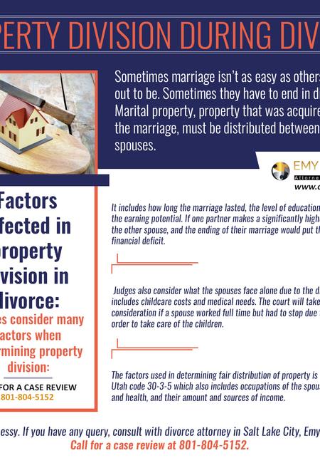 Property division during divorce