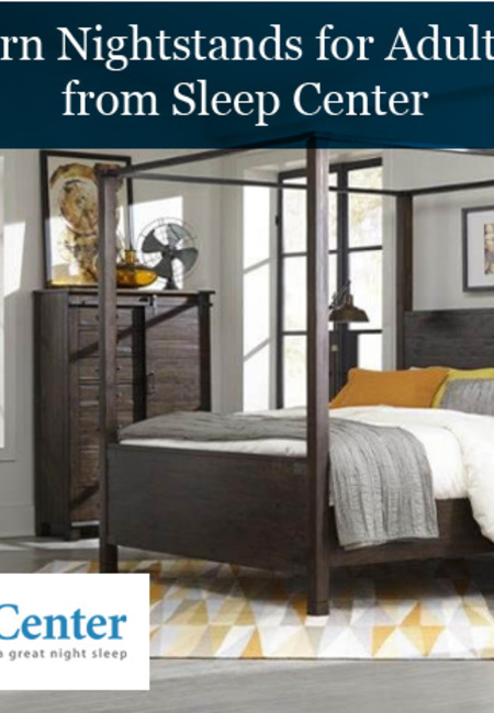 Buy modern nightstands for adult bedroom from sleep center