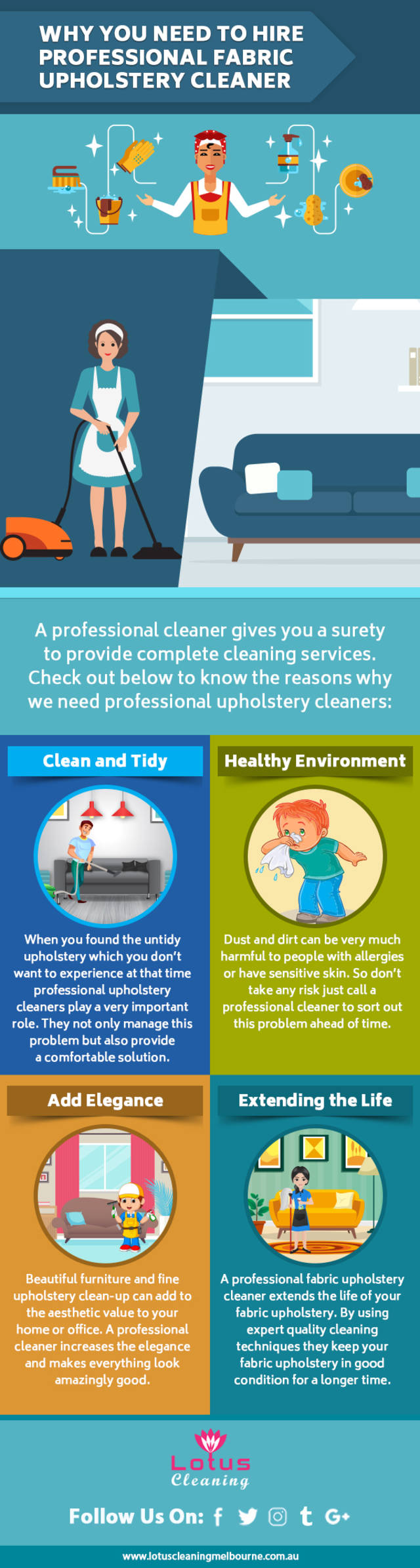 Why you need to hire professional fabric upholstery cleaner