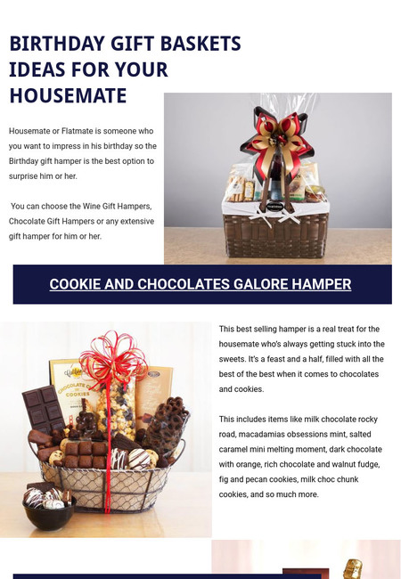 Birthday gift baskets ideas for your housemate info