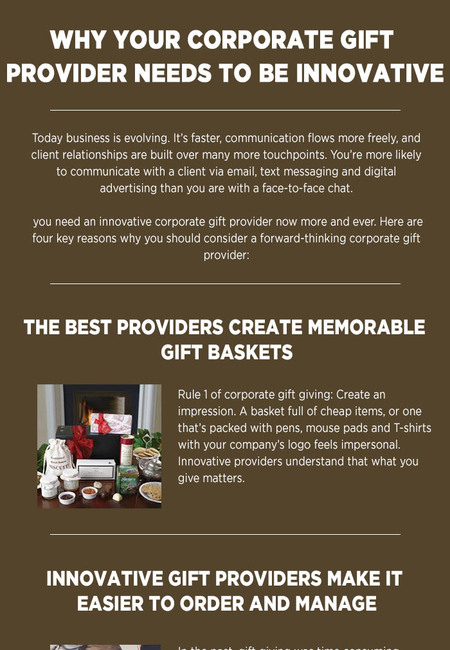 Why your corporate gift provider needs to be innovative
