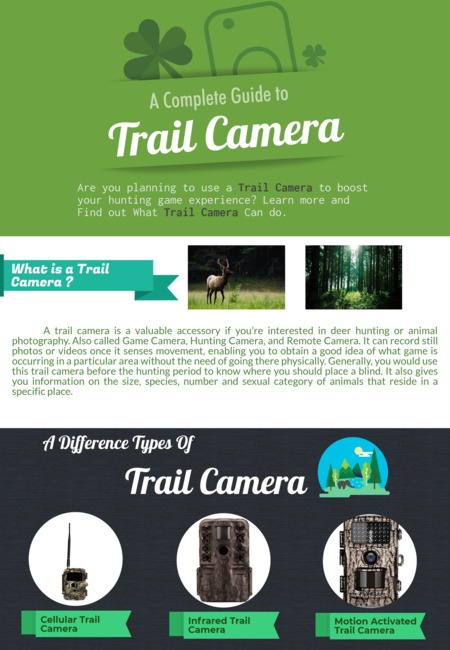 A complete guide to trail camera infographic   best size