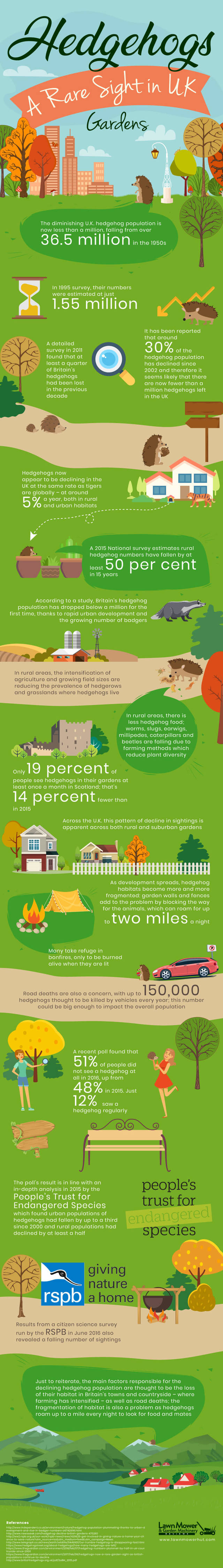 Uk hedgehog decline infographic