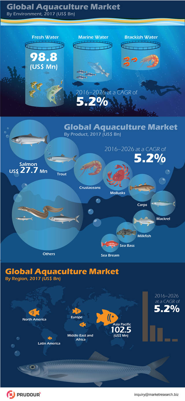 Global aquaculture market infographic