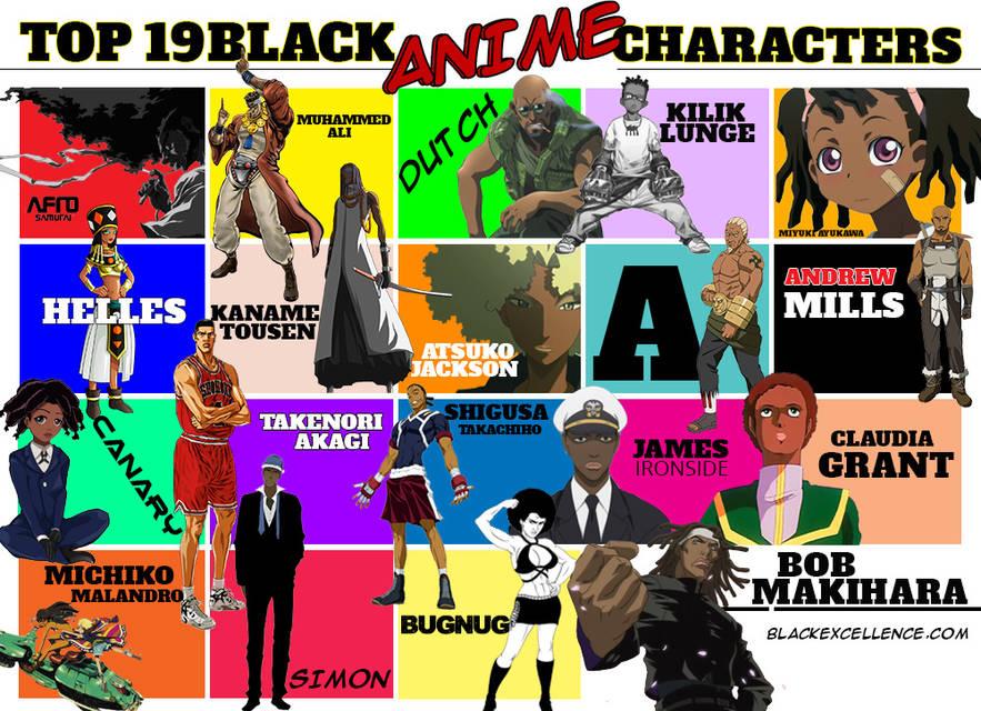 Black anime characters final