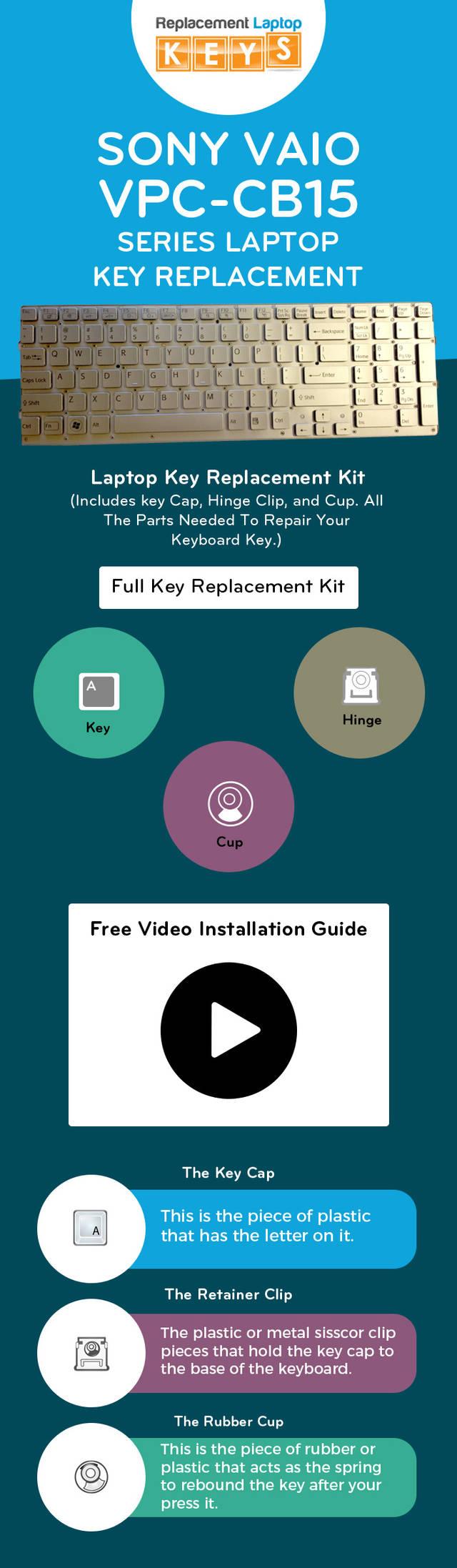 Buy sony vaio vpc cb15 series laptop replacement keys online