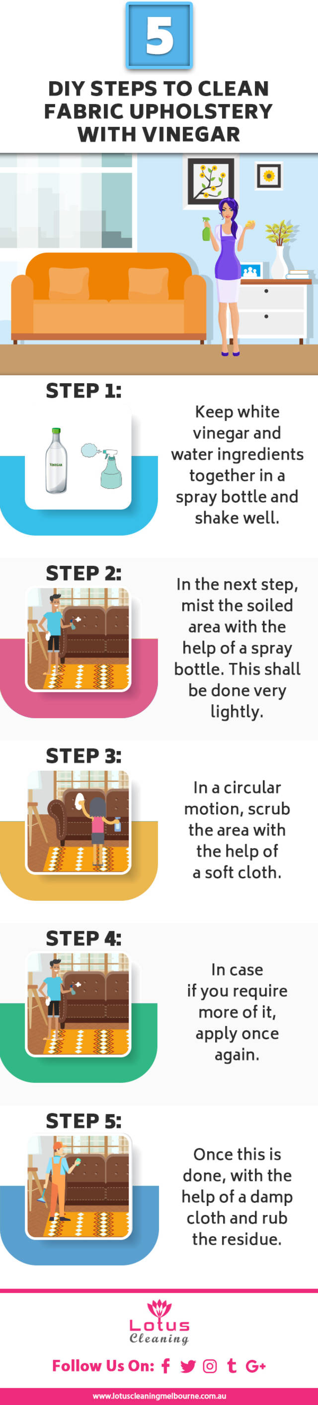 5 diy steps to clean fabric upholstery with vinegar