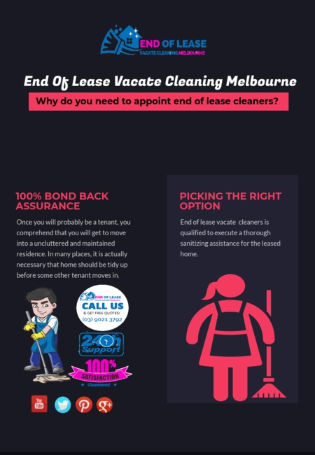 End of lease vacate cleaning melbourne infographic