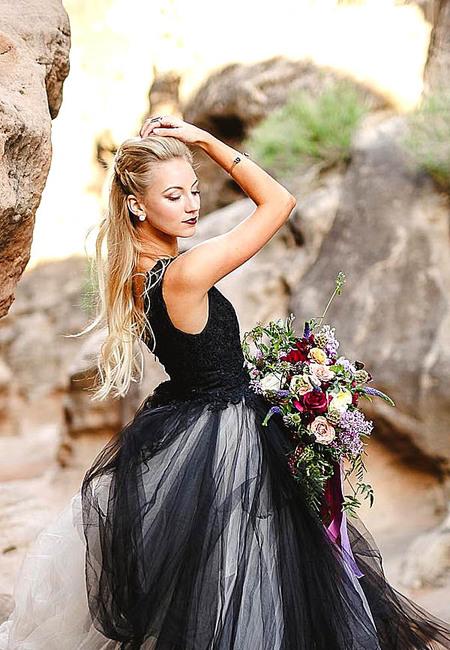 Black wedding dresses alyssa ence photography