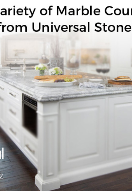 Get a wide variety of marble countertop slabs from universal stone