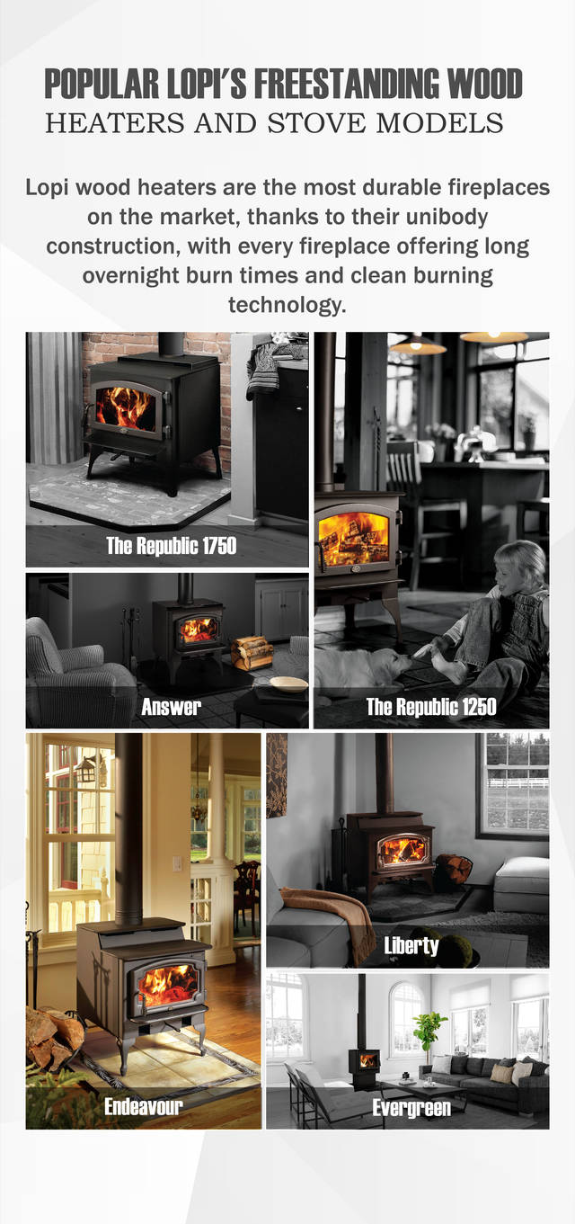 Popular lopi's freestanding wood heaters and stove models