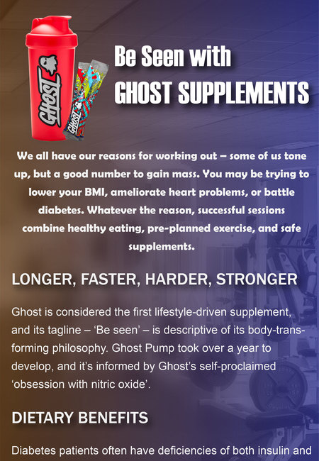 Be seen with ghost supplements